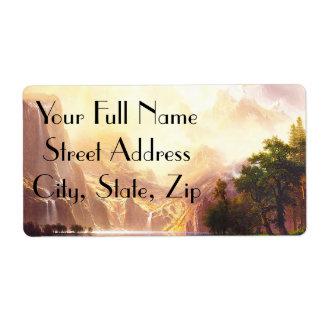 Albert Bierstadt Among the Sierra Nevada Label