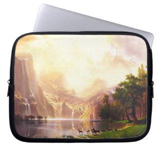 Albert Bierstadt Among the Sierra Nevada Laptop Computer Sleeves