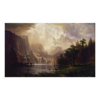 Albert Bierstadt - Among the Sierra Nevada Poster