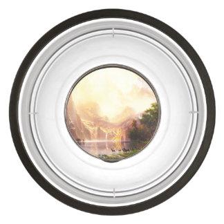 Albert Bierstadt Among the Sierra Nevada Pet Bowl