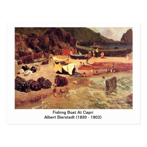 Albert Bierstadt - barco de pesca en Capri Tarjetas Postales