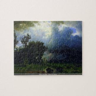Albert Bierstadt - Before the Storm puzzle