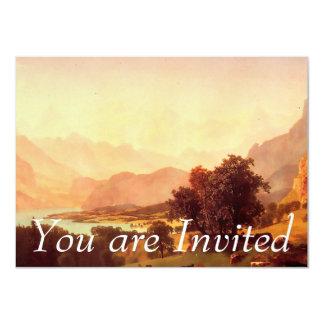 Albert Bierstadt Bernese Alps 1859 4.5x6.25 Paper Invitation Card