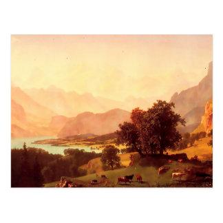 Albert Bierstadt Bernese Alps 1859 Postcard