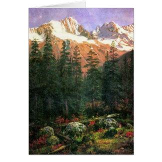Albert Bierstadt Canadian Rockies Card