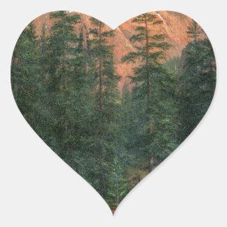 Albert Bierstadt Canadian Rockies Heart Sticker