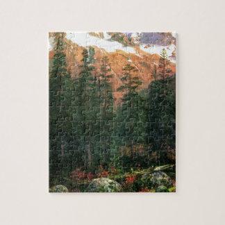 Albert Bierstadt Canadian Rockies Jigsaw Puzzle