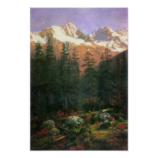 Albert Bierstadt-Canadian Rockies Poster
