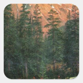Albert Bierstadt Canadian Rockies Square Sticker