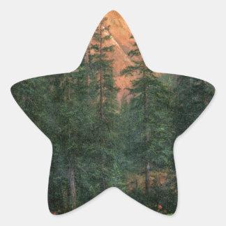 Albert Bierstadt Canadian Rockies Star Sticker
