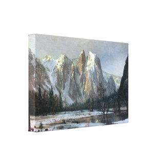 Albert Bierstadt - Cathedral Rocks Yosemite Stretched Canvas Print