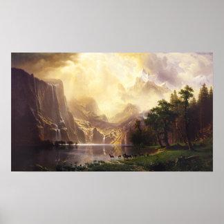Albert Bierstadt en el poster de las montañas