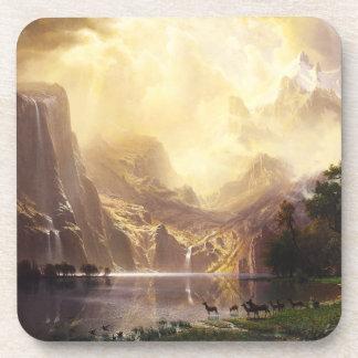 Albert Bierstadt en el práctico de costa de las mo Posavasos