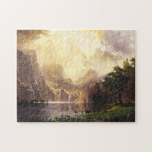 Albert Bierstadt en el rompecabezas de las montaña