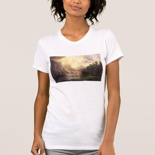 Albert Bierstadt en la camiseta de las montañas