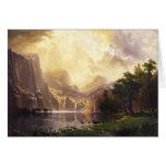 Albert Bierstadt en la tarjeta de felicitación de