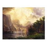 Albert Bierstadt en la tarjeta de felicitación de Postales