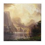 Albert Bierstadt en la teja de las montañas