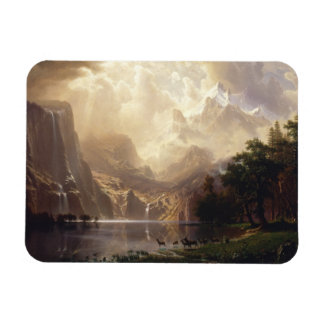 Albert Bierstadt - entre Sierra Nevada Imanes De Vinilo