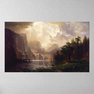 Albert Bierstadt - entre Sierra Nevada Póster
