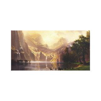Albert Bierstadt In The Mountains Canvas Wrap Canvas Print