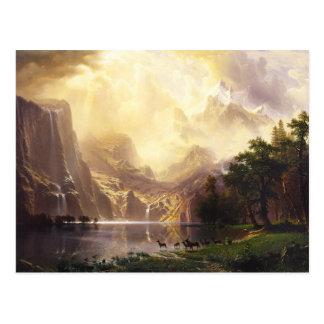 Albert Bierstadt In The Mountains Greeting Card Postcard