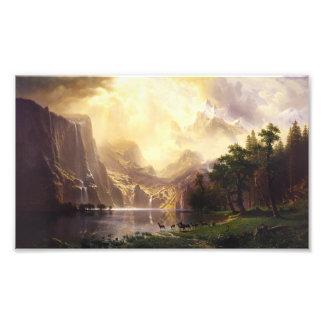 Albert Bierstadt In The Mountains Photo Print
