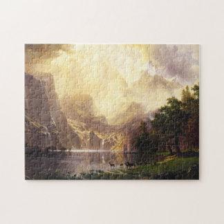 Albert Bierstadt In The Mountains Puzzle