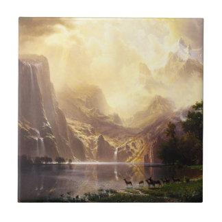 Albert Bierstadt In The Mountains Tile