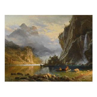 Albert Bierstadt - Indians Spear Fishing Postcard