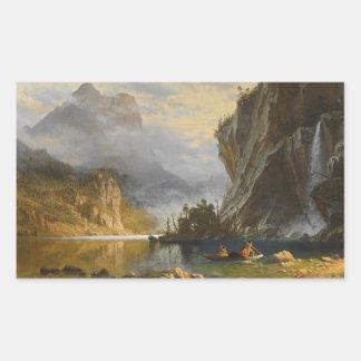Albert Bierstadt - Indians Spear Fishing Rectangular Sticker
