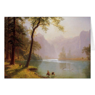 Albert Bierstadt, Kerns River Valley California Card