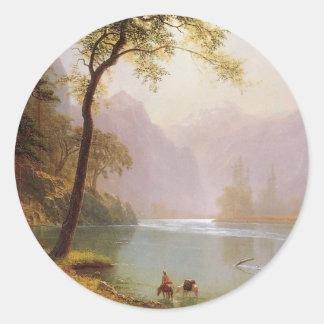 Albert Bierstadt, Kerns River Valley California Classic Round Sticker