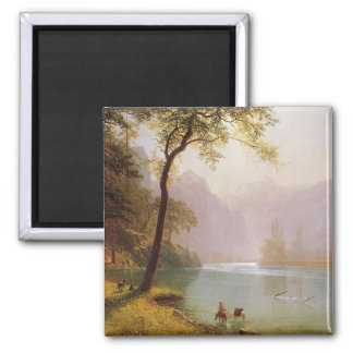 Albert Bierstadt, Kerns River Valley California Imán Cuadrado