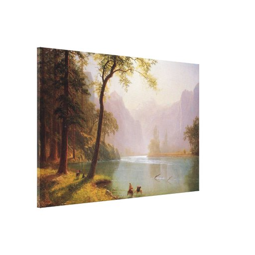 Albert Bierstadt, Kerns River Valley California Lona Envuelta Para Galerias