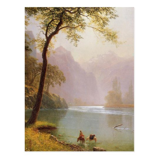 Albert Bierstadt, Kerns River Valley California Postcard