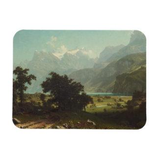Albert Bierstadt - lago Alfalfa Imán Foto Rectangular