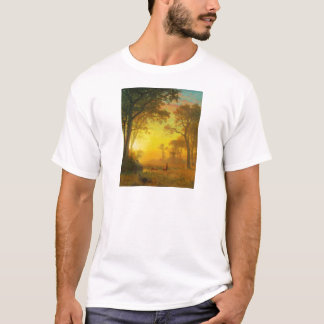 Albert Bierstadt Light in the Forest T-Shirt