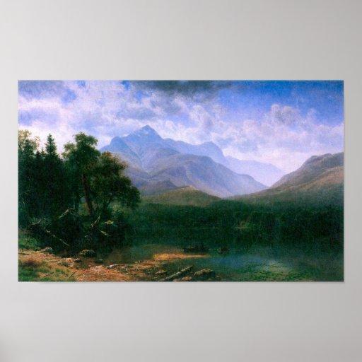Albert Bierstadt-Mt. Washington Póster