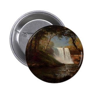 Albert Bierstadt Painting Forest Waterfall Destiny Buttons