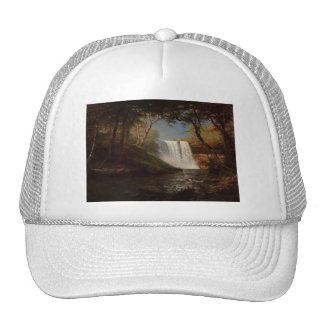 Albert Bierstadt Painting Forest Waterfall Destiny Hats