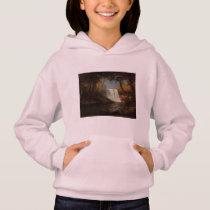 Albert Bierstadt Painting Forest Waterfall Destiny Hoodie