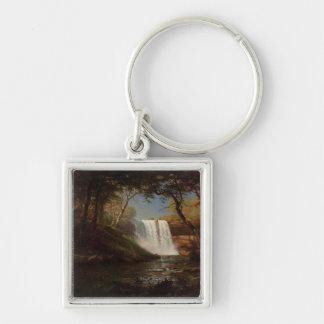 Albert Bierstadt Painting Forest Waterfall Destiny Keychains