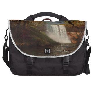 Albert Bierstadt Painting Forest Waterfall Destiny Laptop Commuter Bag