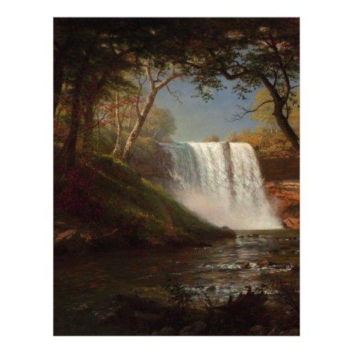 Albert Bierstadt Painting Forest Waterfall Destiny Letterhead
