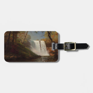 Albert Bierstadt Painting Forest Waterfall Destiny Tags For Luggage