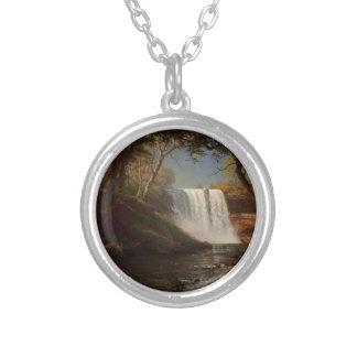 Albert Bierstadt Painting Forest Waterfall Destiny Pendants