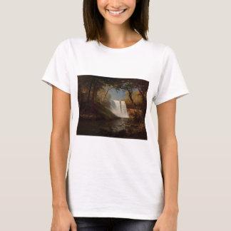 Albert Bierstadt Painting Forest Waterfall Destiny T-Shirt