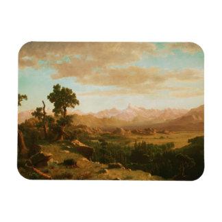 Albert Bierstadt - país de Wind River Iman Rectangular