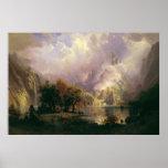 Albert Bierstadt - paisaje de la montaña rocosa Posters